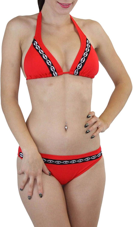 Tobeinstyle Women's Two Piece Embroidered Bikini Set