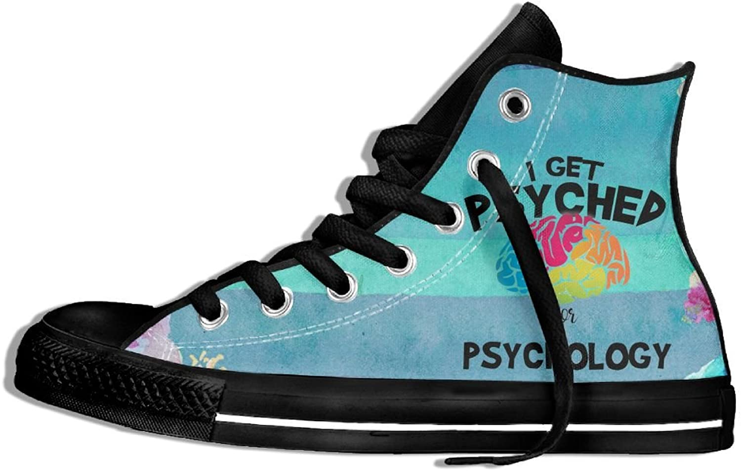 I Get Psyched For Psychology High Top Classic Casual Canvas Fashion shoes Sneakers For Women & Men