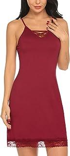 Avidlove Women Lingerie Sexy Chemise Nightie Lace Babydoll V Neck Sleepwear Slip Dress