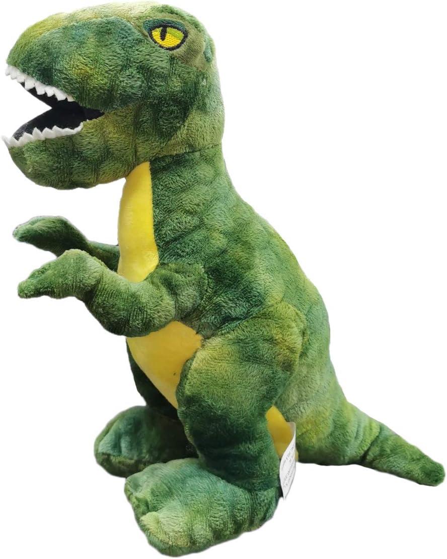 BARRADO - Peluche Dinosaurio Tiranosaurios Rex- 30 Centímetros - Calidad Super Soft (Dinosaurio Verde 30cm)