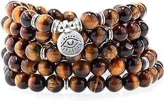 8MM 108 Mala Beads Charm Bracelet for Men Women Yoga Bracelet Necklace