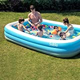 Sable Inflatable Pool, Blow Up Family Full-Sized Pool for Kids, Toddlers, Infant & Adult, 118' X 72' X 22', Swim Center for Ages 3+, Outdoor, Garden, Backyard, Summer Water Party