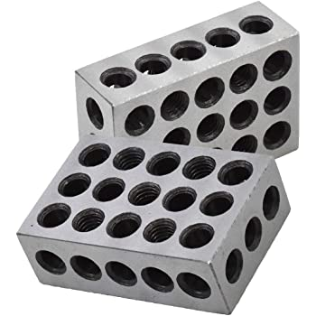 NEW Precision V Block Set 40 x 32 x 32 mm with Includes 2 Blocks and 2 Clamps