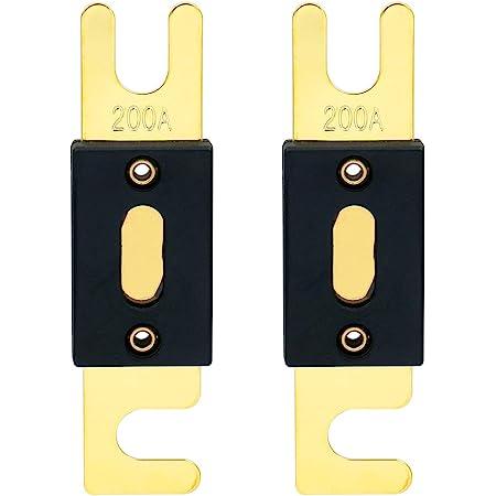 Mintice 5 X 200a Anl Sicherung Auto Automotive Audio Power Sicherheit Schützen Glasrohr Vergoldet Schutz Auto