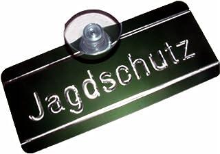 B 115 x H 135 mm Allesklaro Digitaldruck Jagdbetrieb Schild mit Saugnapf Verschiedene Motive Autoschild f/ür KFZ Heckscheibe