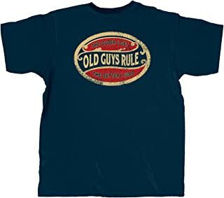 T Shirt for Men | The Older I Get. The Better I was (Oval) | Navy
