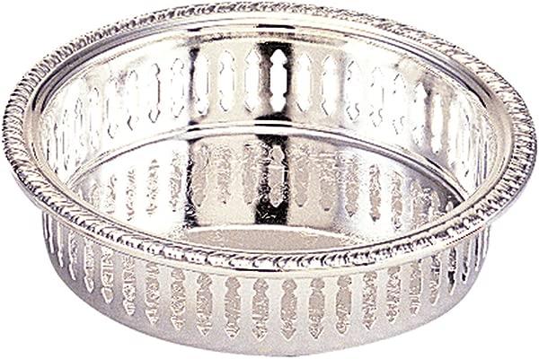 Elegance Silver Pierced Silver Plated Wine Coaster