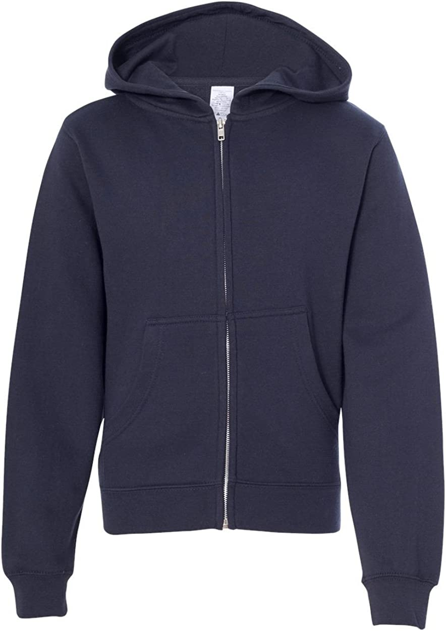 Independent Trading Co. ITC-Youth Midweight Full-Zip Hooded Sweatshirt-SS4001YZ