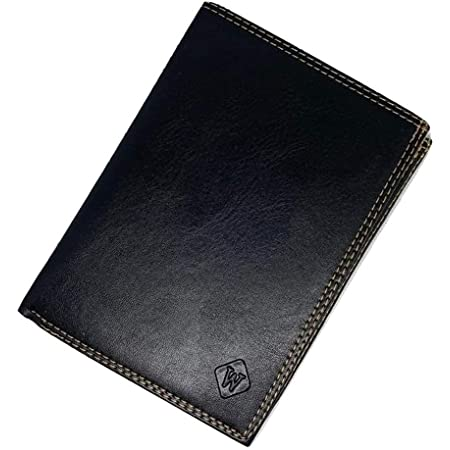 Men's New Bi-Fold Credit Card , Photo I.D Holder Money Slim Wallet Coin Purse with 19 Card Spaces (Black)