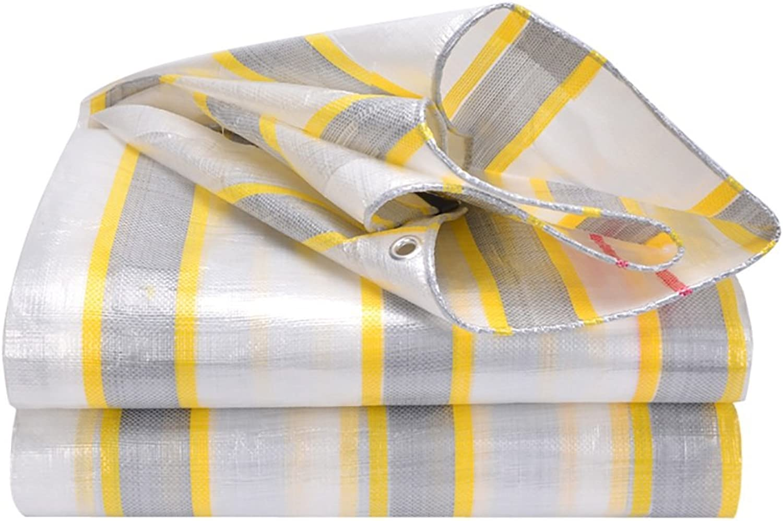 Tarps Thick gold Bag Silver rain Cloth Waterproof Sunscreen Plastic wear Tarpaulin Outdoor Sun Shade rain Truck Canopy Cloth (Size   3m4m)