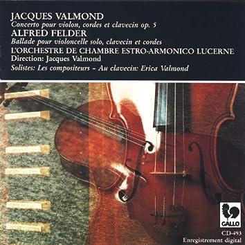 Valmond, Felder, Concertos for violin & cello
