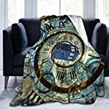 July Tardis Doctor Police Box Print Ultra-Soft Light Weight Cozy Warm Fluffy Plush Blanket Microfiber For Bed Couch Chair Sala de Estar
