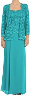 Mother of The Bride Dresses Long Evening Dresses Lace Formal Gowns Jacket Mothers Bride Dresses