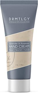 DRMTLGY Hand Cream Shea Butter Lotion for Dry Hands with Lavender & Rosemary. Non-Greasy Hand Moisturizer.