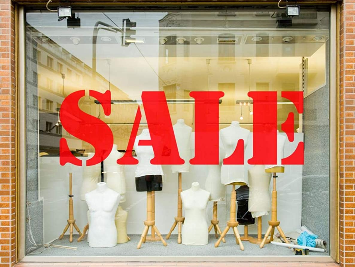 60 Second Makeover Limited Sale Shop Window Sign Sticker Graphic Retail Business Signage Advert Sign