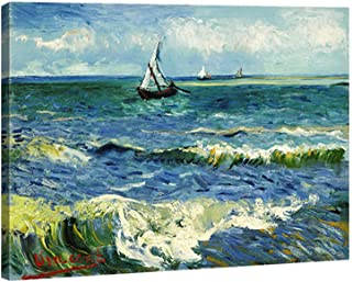 Wieco Art - Seascape at Saintes Maries by Vincent Van Gogh Oil Paintings Reproduction Classical Giclee Canvas Prints Artwo...