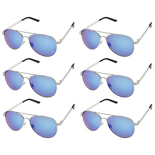 200df4c4f31ec AVIATOR SUNGLASSES - Classic   Stylish Retro Sunglasses Bulk Wholesale (6  Pack)
