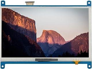 Pantalla Raspberry Pi, 7 Pulgadas 1024x600 con retroiluminación LCD Pantalla táctil Monitor con HDMI para Raspberry Pi 4B.
