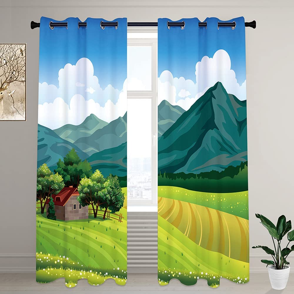 LilyCat Bedroom Blackout Windows Seasonal Wrap 1 year warranty Introduction Curtains Grommets with Block S