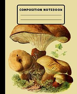 Vintage Mushroom Composition Notebook: Beautiful Vintage Mushroom Composition Notebook, Cottagecore Mushroom Composition N...