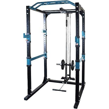 vidaXL Fitness Power Rack 140x145x214cm Yellow and Black Gym ...