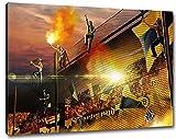 Dortmund Away Format: 60x40, Bild auf Leinwand XL,