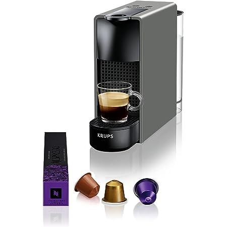 Krups XN110B Essenza Mini XN110B10 Pod coffee machine, 1310 W, 0.6 liters, Noir, Gris