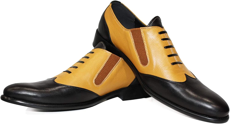 Modello Babirello - Handgjord italiensk lädermäny Färg på svarta Oxfords Oxfords Oxfords Klädskor - Cowhide Smooth läder - Lace -Up  kvalitetsgaranti