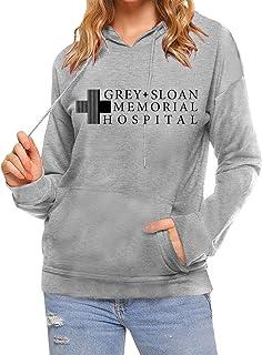AEURPLT Greys Anatomy Sweatshirt Hoodies Women Teen Girls Fall Winter Cozy Fleece Pullover Hooded Crewneck Sweatshirts Tops