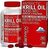Aceite De Krill Antartico 1000 Mg Con Omega-3 Epa, Dha, Astaxantina Y Fos 180 ct