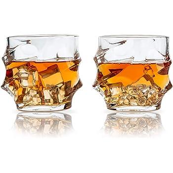 SkySnow® Vasos de Whisky, Juego de 2 Vaso de Vidrio ...