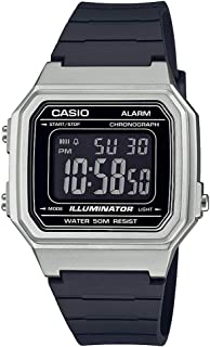 Casio W-217HM-7B Silver & Black Unisex 50m Multi-function Digital Watch