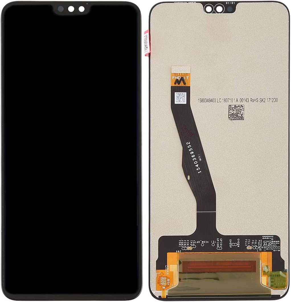 YANGJ LCD Screen and Digitizer Full Assembly for Huawei Honor 8X Color : Black Black