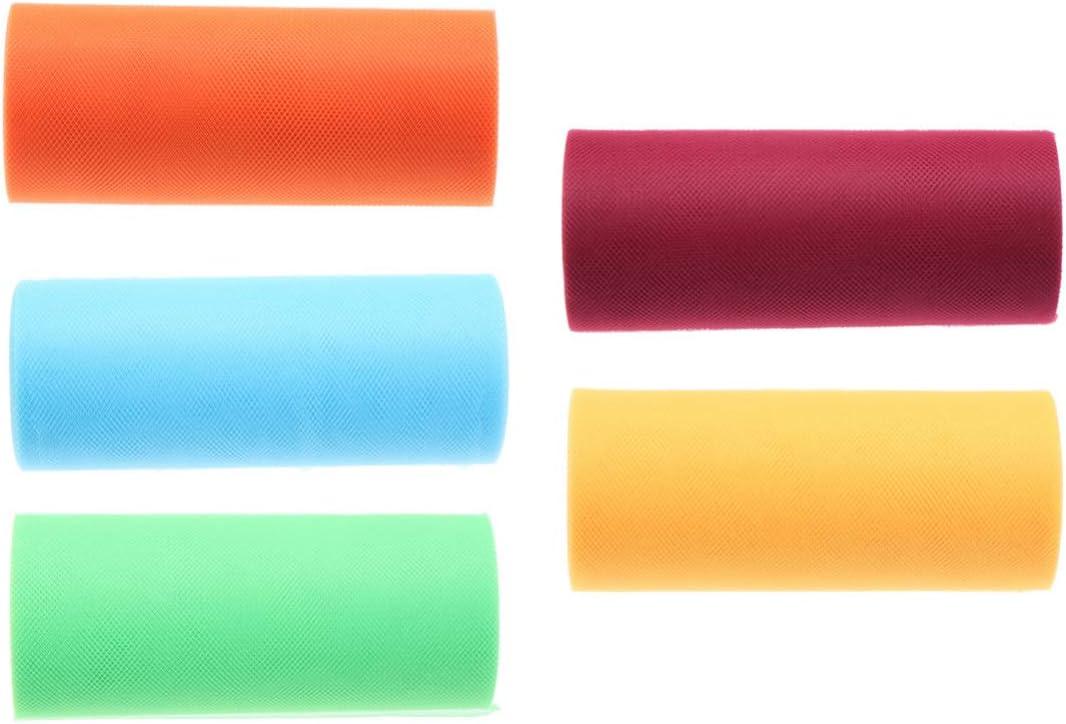 Supvox 5PCS Rainbow Tulle Assort Netting OFFicial shop San Jose Mall Spool Rolls