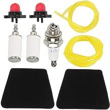 Allong Air Filter Tune Up Kit for Poulan Pro 260 2150 2375 1950 1975 2075 2025 1900 Craftsman 358.350460 358.360280 358.791050 1975LE Woodshark Chainsaw Primer Bulb Spark Plug Fuel Filter Line Kit
