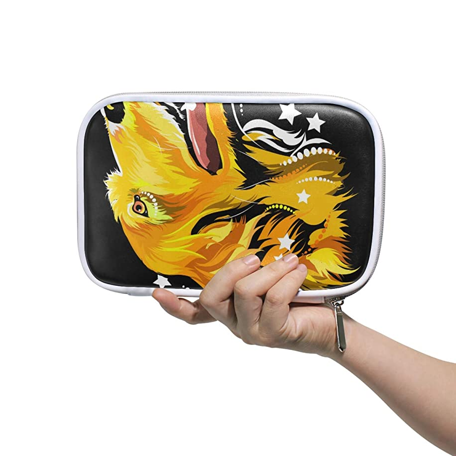 Makeup Brush Bag Lovely Dog Head Pencil Case with Zipper Closure Large Capacity Pen Organizer