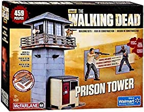 Walking Dead McFarlane Toys The Prison Tower Building Set – AMC TV Series - Fun to Assemble – A Centerpiece to Your Collection