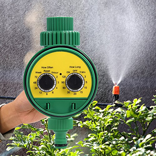 Bewässerungstimer, Multifunktionsuhr Bewässerungstimer Multifunktions Gartenbewässerungsregler mit zwei Wählscheiben und automatischer elektronischer Bewässerungsuhr