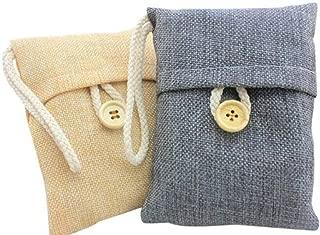 Bamboo Charcoal Air Purifying 0dor Bag, 100g Natural Air Freshener Bags, Activated Charcoal Odor Eliminators, Car Air Purifier, Closet Freshener, Home Air Freshener, Charcoal Bags in Grey Color