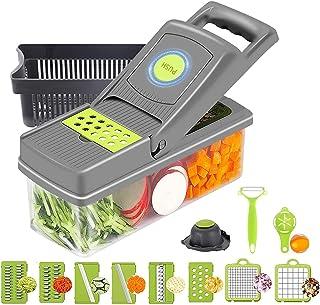 RunSnail 14 in 1 Mandoline Cuisine Multifonction Couper les Legumes Séparer les Oeufs 10 Lames Couteau en Acier Inoxydable...