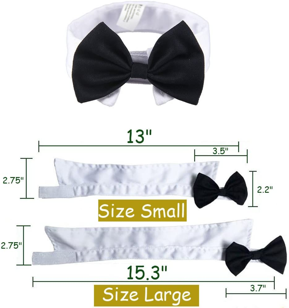 Bolbove Adjustable Handsome Pet Bowtie Collar Neck Tie for Dogs /& Cats
