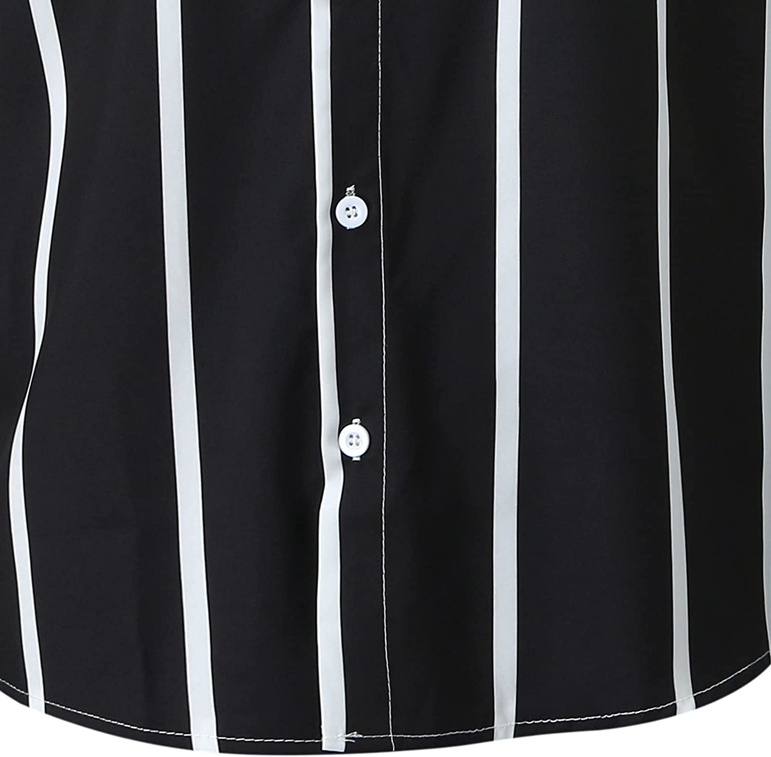 WOCACHI Striped Dress Shirts for Mens, Button Down Long Sleeve Slim Fit Business Shirt Casual Beach Work Tops