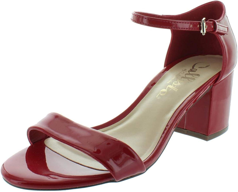 Callisto of California Womens Palmer Patent Dress Sandals Red 5 Medium (B,M)
