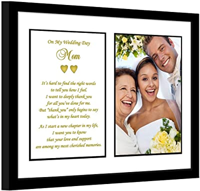 LifeSong Milestones Parent Wedding Gifts Ivory Picture Frame for Bride and Groom Mom and Dad Today a Bride Tomorrow a Wife Forever Your Little Girl 16 L X 8 Holds 2 4x6 Photos from