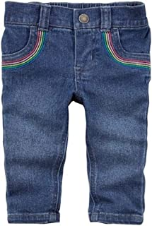 Carter's Baby Girls' Rainbow Jeggings/Jeans 9 Months