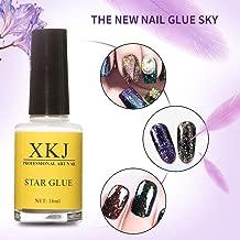 Braceus 15ml Nail Art Glue for Foil Sticker Nail Transfer Tips Adhesive Starry Sky Pattern