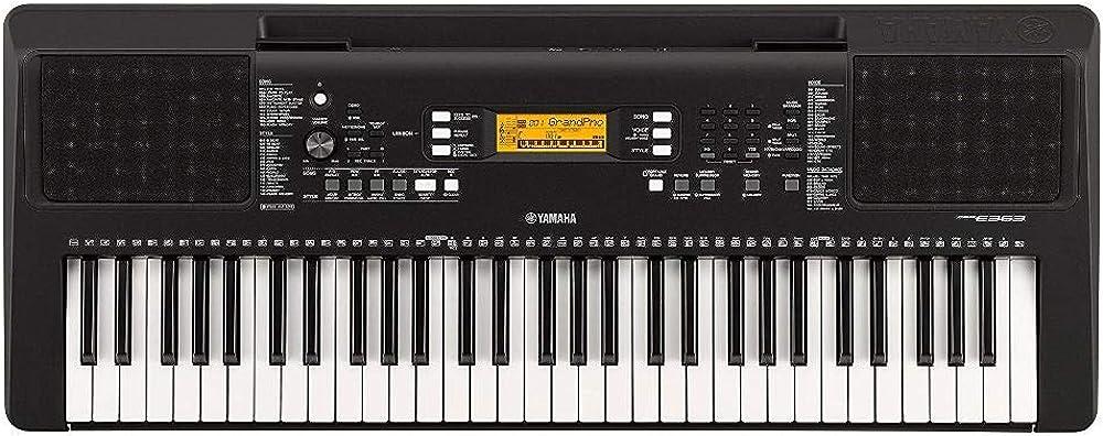 Yamaha digital keyboard psr-e363, tastiera digitale  con 61 tasti dinamici