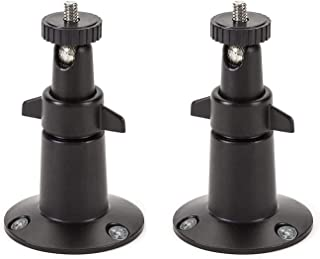 Wasserstein Adjustable Security Metal Wall Mount Compatible with Arlo Ultra, Pro, Pro 2 & Other Compatible Models (2-Pack,...