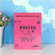 HUAJIN Big Letter Post Mail Box Retro Wall Mounted met Key Metal Mailbox Vintage Bucket Tin Kranten Dozen Mail Box Woondec...