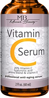 Best DOUBLE SIZED (2 oz) PURE VITAMIN C SERUM FOR FACE 20% With Hyaluronic Acid - Anti Wrinkle, Anti Aging, Dark Circles, Age Spots, Vitamin C, Pore Cleanser, Acne Scars, Organic Vegan Ingredients Review